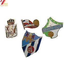 Custom Mou Dur émail avec paillettes d'un insigne de l'épinglette de couleur noire pour la promotion de cadeaux