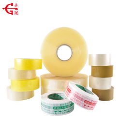 Venta directa de fábrica BOPP CINTA DE EMBALAJE CAJA DE CARTÓN amarillo transparente cinta adhesiva