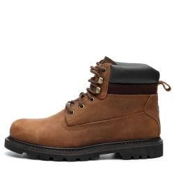 Circonscription occasionnel Round Toe bottines en cuir des chaussures de sécurité Semelle en caoutchouc Bottes de travail