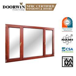 Ventana de lujo de inclinación de aluminio madera&Gire Fenster Nuevo Diseño inclinar y girar hacia adentro la apertura de la madera de roble Casement Windows Fabricación