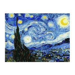 Pintura de adultos digital por números Van Gogh Céu abstracta DIY tinta acrílica de óleo por Kits números Hobby Art