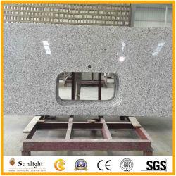 La Chine usine personnaliser blanc/jaune/noir comptoirs en granit à bas coût