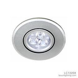 長い寿命のショーケースLC7220Xのための小型3W LEDによって引込められる天井灯