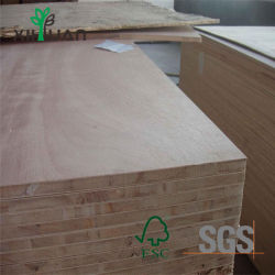 de Raad/Blockboard van het Blok van Lauan van de Melamine van de Lijm van 18mm E0
