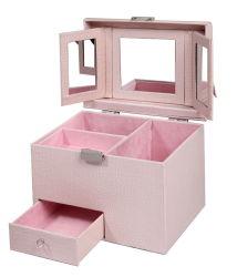 Профессиональный макияж случае кожа Custom косметический упаковке (6005R1)