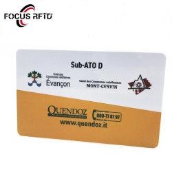 Kundenspezifische RFID Rabatt-Karten für Supermarkt-PlastikVisitenkarte