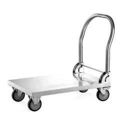 O restaurante de aço inoxidável Carrinho Dobrável Lado camião/carrinho Carrinho de plataforma 150kg com 100mm Roda pivotante