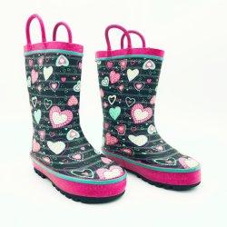 Il Sudare-Cuore caldo di inverno delle ragazze scherza i caricamenti del sistema di gomma impermeabili esterni dei caricamenti del sistema di pioggia