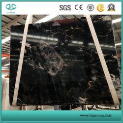 La Chine Cosmos Noir/dalle de marbre noir pour les tuiles de plancher