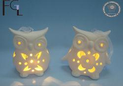 Kundenspezifischer keramische Huhn-Form-hängender Dekor mit LED