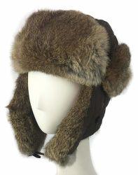 ポリエステルウサギの毛皮のトリムの冬の暖かいEarflapの毛皮の贅沢の帽子