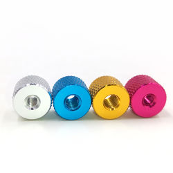 L'aluminium de pouce à tête ronde de l'écrou moleté/OEM et de l'écrou personnalisé