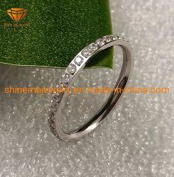 Anello popolare SSR2055 dell'acciaio inossidabile di larghezza dei monili 2mm dell'acciaio inossidabile di Zircon di alta qualità