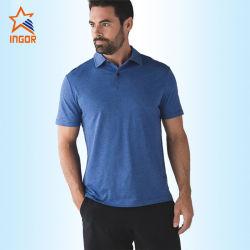 カスタマイズされた綿の高品質の抗菌性のActivewearメンズゴルフポロシャツ