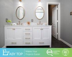 Prêt à assembler un style classique lavabo double et salle de bain baignoire miroir vanité
