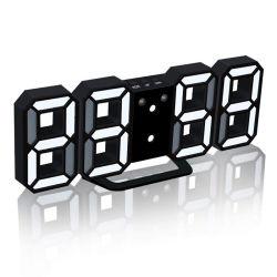Electrónica Digital 3D LED de pared relojes de alarma reloj de escritorio mesa