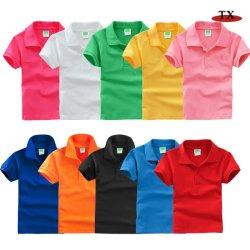 Super qualidade 100% algodão macio crianças vestem Polo vestir uma T-shirt