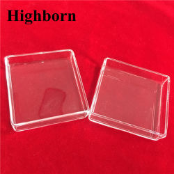 Clear Customized Square Fused Quartz Petri Dish for for for Laboratory