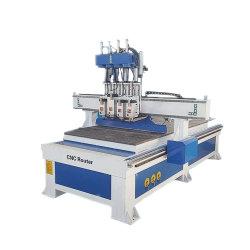 1325 Le cabinet de travail du bois de coupe de bois d'équipement de gravure CNC Router Machine+table d'aspiration avec quatre fusées air de refroidissement 6 kw
