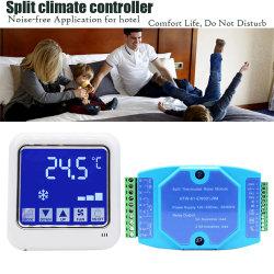 4-Wire Digital entfernte Station schließen Ventilator-Ring-Geräten-Hotel-Netz-Thermostat mit Modbus an