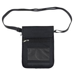 お金のクレジットカードの携帯電話のための防水旅行機密保護袋を妨げるRFIDの首の袋旅行札入れのパスポートのホールダー