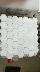 Reines weißes Marmormosaik/Thassos/weißes Mosaik/Hexagon-Mosaik/Fliese/Fußboden/Wand für Badezimmer/Küche/Backsplash/Wand/Pool-/Dekoration-Mosaik-Fliese