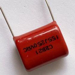 Condensadores de filme de polipropileno metálico Cbb-155J250VAC usado em um circuito de CA