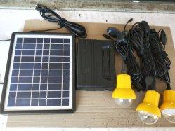 3PC портативный светодиодный индикатор лампы/солнечного освещения питания энергетической системы для дома с USB