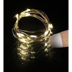 Fio de cobre de bricolage String LED acende as luzes de cortiça de garrafas de vinho