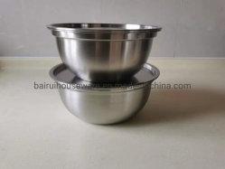 Alta qualidade de aço inoxidável Salada Tigela com tampa um-0403y