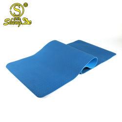 Gymnastik Sports Übungs-kundenspezifische Farbe TPE-Yoga-Hauptmatte