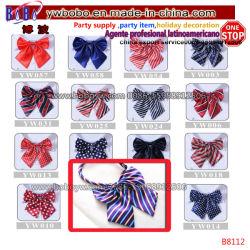 학교 동점 학교 스카프 공단 실크 형식적인 순수한 색깔 Neckerchief 여자의 나비 넥타이 (B8112)
