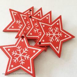 10pcs/Set colgantes colgantes de madera del árbol de Navidad Adorno la decoración del hogar