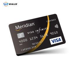 Impression couleur personnalisée en usine de la taille de la Banque en plastique PVC recyclé RFID Puce IC Smart Carte bancaire de crédit