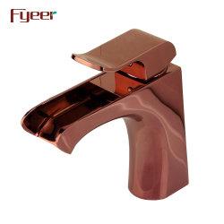 Válvula do núcleo de cerâmica moderna Fyeer Rose torneira da Bacia de Cachoeira Dourada