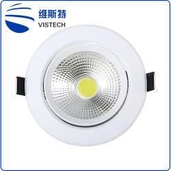 工場安く商業スマートな穂軸5W 12W 15Wによって引込められるLEDの天井ランプのスポットライトの据え付け品