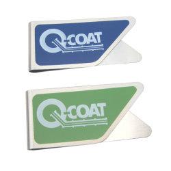 Barata de acero inoxidable material de oficina Logotipo personalizado Clip de metal