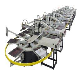 t-셔츠, 짠것이 아닌 부대를 위한 Spo 10 색깔 자동적인 타원형 유형 스크린 인쇄 기계