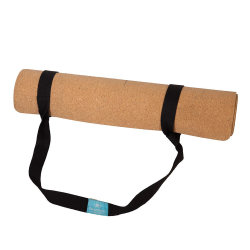 Cork van de Jute van Eco het Vriendschappelijke Antislip Natuurlijke Rubber van de Mat van de Yoga van het Linnen met Riemen