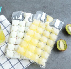 Precio al por mayor PE material transparente de plástico desechables bolsas de cubitos de hielo de la bolsa de hielo