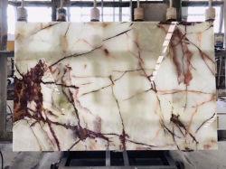 Les plaques de marbre rouge/blanc Onyx pour salle de bains/cuisine/table/d'un comptoir/bureau/l'Intérieur/design/décoration maison/Les matériaux de construction/contexte mural/de carreaux de plancher
