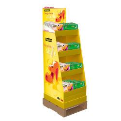 슈퍼마켓 접이식 팝 카톤 스탠드 맞춤형 소매 휴대용 POS 판지 바닥 디스플레이