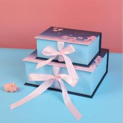 Contenitore di regalo di carta impaccante piegante Handmade su ordinazione di lusso del cartone per cioccolato /Watch/Jewelry/Wine/Clothing/Cosmetic/Shoes/Perfume