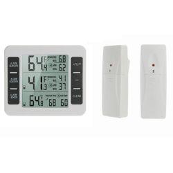 Elektronischer drahtloser Innen- und im Freienthermometer-Kühlraum-Thermometer