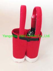 Dekking van de Fles van de Stof van Kerstmis de Nieuwe Rode met Houder