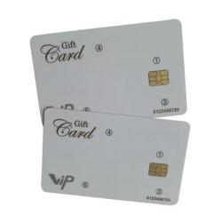 Tarjeta inteligente RFID SLE5542 SLE4442 SLE4428 Póngase en contacto con tarjeta IC de PVC blanco con banda magnética Hico