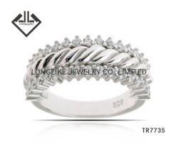 Nouveau mode de gros de bijoux pour les femmes dans l'anneau de bande 925 beaux bijoux en argent sterling