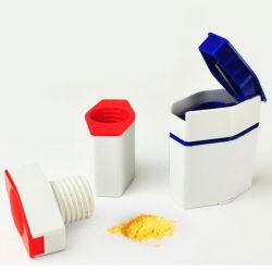 Cuadro de la píldora de plástico con cortador