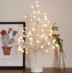 2019의 빛난 나무 램프 라운드 볼 나무 LED 크리스마스 장식적인 빛