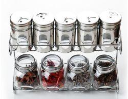 Frasco de vidro Spice Misturador com suporte de metal